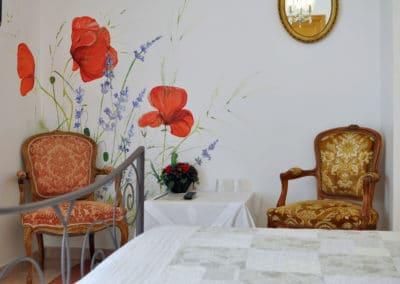 Décoration murale appartement Lavande de l'Hôtel Villa Elaia