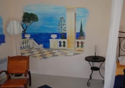 Décoration murale suite Atelier de l'Hôtel Villa Elaia